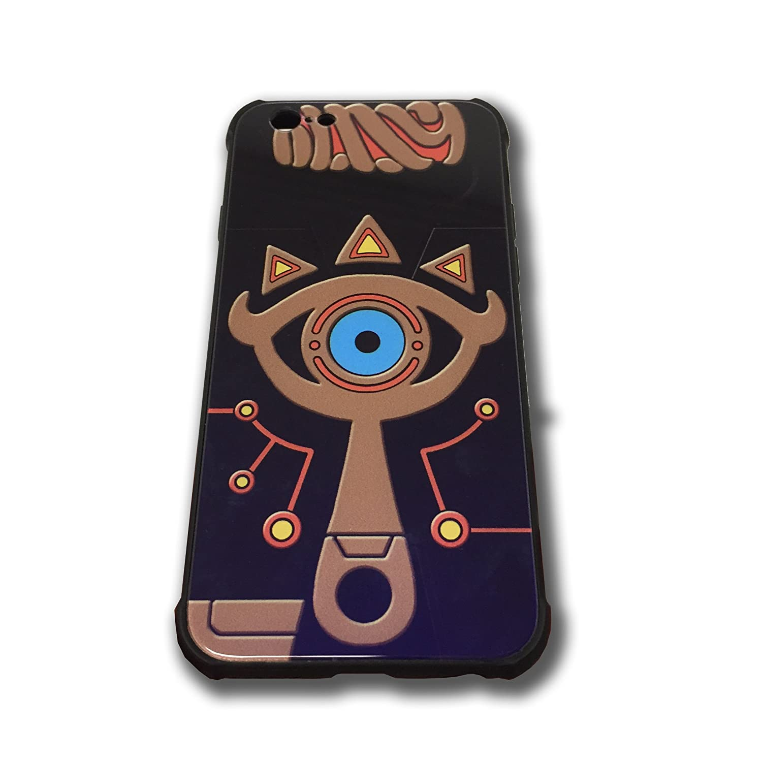 timeless design 04026 f96d5 The Legend of Zelda Sheikah Slate Eye Cell Phone Cases Blue Glass Back  Cover For iPhone 6 Plus iPhone 6s Plus