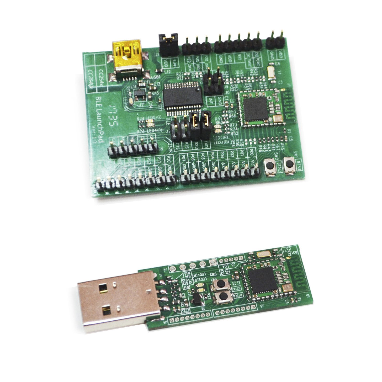 BLE 4.0 Bluetooth Development/Evaluation Kit Board USB-UART Interface EVK-CC2541 and USB Dongle UDK-CC2540 by ELSRA