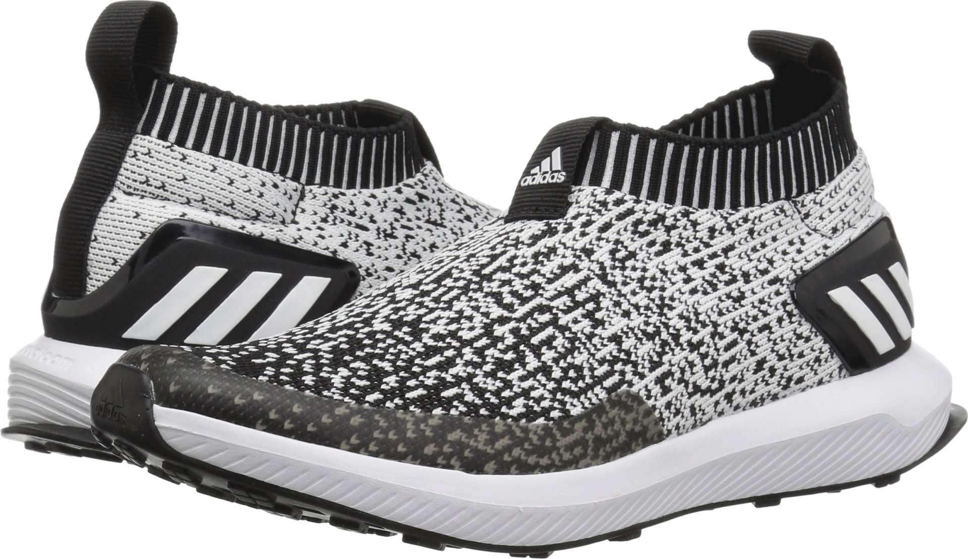 b4bcd022a0 adidas Unisex RapidaRun Laceless Running Shoe, White/Black, 10.5K M US  Little Kid
