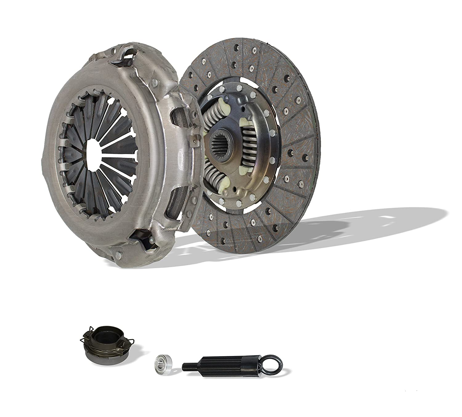 Clutch Kit Works With Toyota Tacoma Base Pre Runner SR5 One-Ton Extended Standard Cab Pickup 2.7L l4 GAS DOHC 3.0L V6 GAS SOHC Naturally Aspirated 4Wd