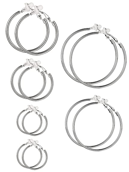orecchini clip argento