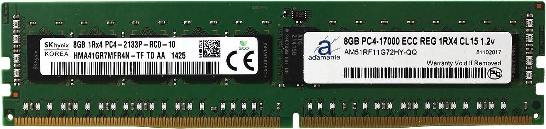 Hynix Original 8GB (1x8GB) Server Memory Upgrade for Dell Precision 5810 Tower DDR4 2133MHz PC4-17000 ECC Registered Chip 1Rx4 CL15 1.2V DRAM Adamanta