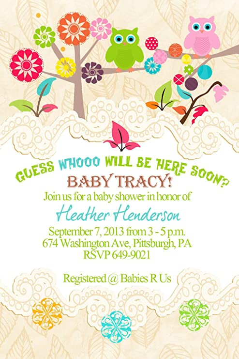 Amazon cute owl tree baby shower invitations toys games cute owl tree baby shower invitations filmwisefo