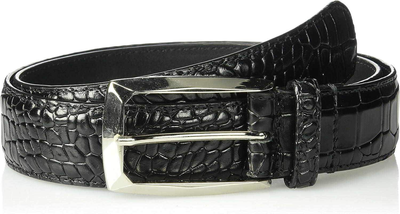 Stacy Adams mens Ozzie Croc Embossed Belt Belt