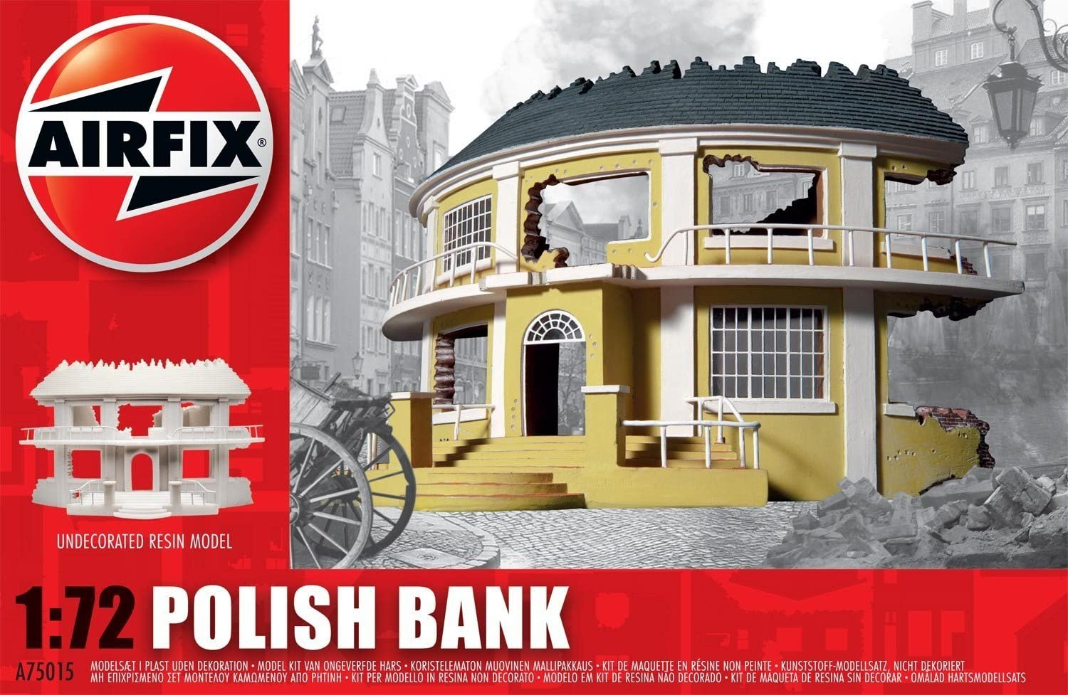 Airfix A75015 1//72 Resin Model of a Polish Bank in Ruins
