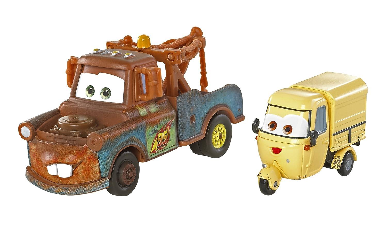 Mattel Disney Cars 2 - Juego de Coches en Miniatura (Mate y Sal Machiani)