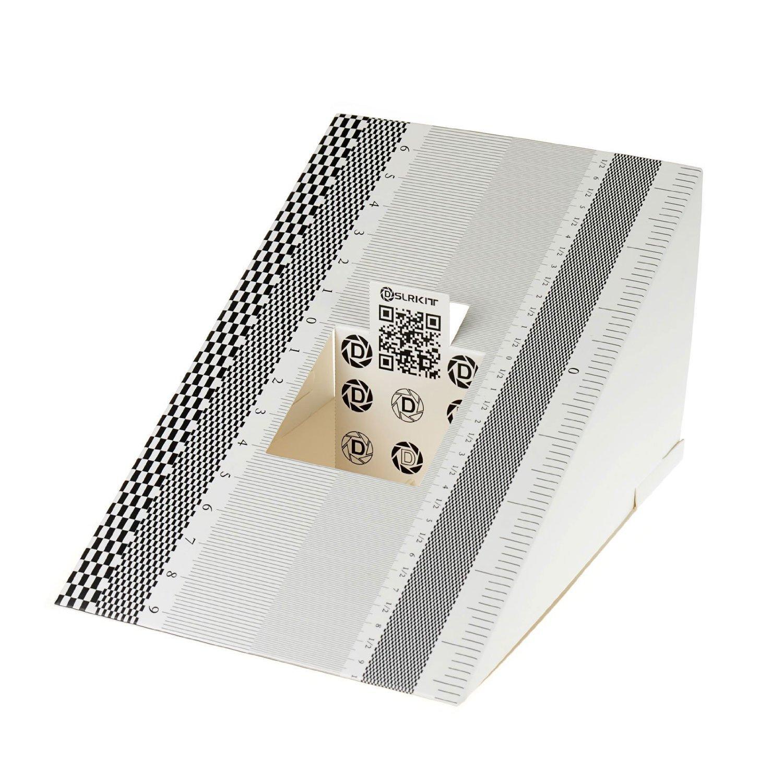 DSLRKIT Lens Focus Calibration Tool Alignment Ruler Folding Card(pack of 12) by DSLRKIT