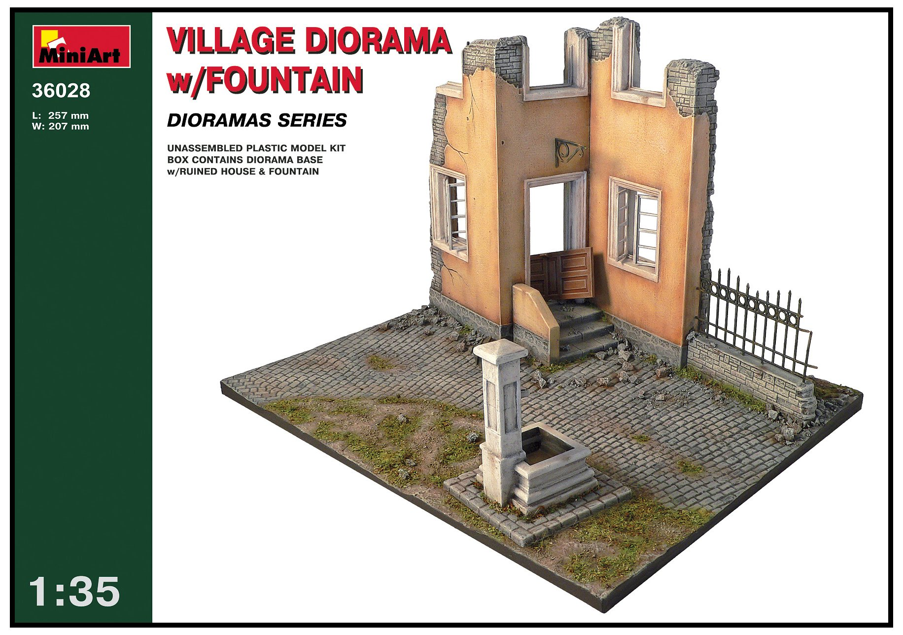 Miniart 1:35 - Village Dioramawith Fountain