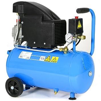 Impresión Aire - Compresor 1,5 ps 1,1 kW Gran Depósito de 24 litros 8 bar ölgeschmiert móvil acoplamiento rápido: Amazon.es: Bricolaje y herramientas