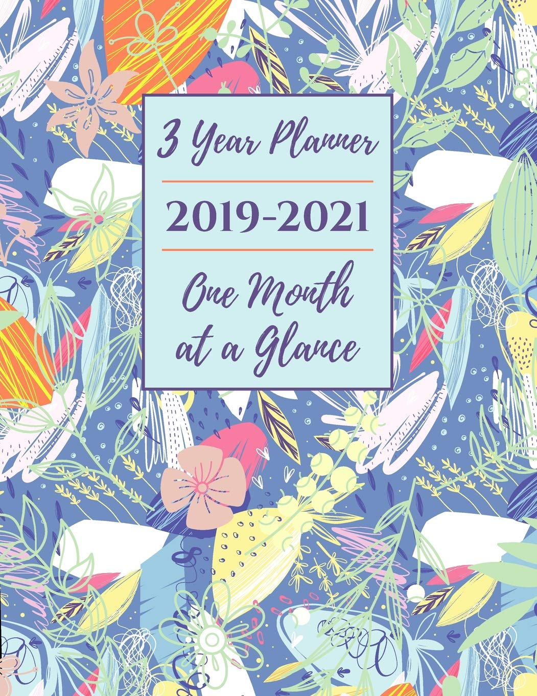 3 Year Planner 2019-2021 One Month at a Glance: Big Monthly ...