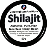 50g Shilajit, Authentic, Pure, High Mountain Shilajit Resin   Amazing Source of Fulvic Acid, Trace Minerals, Boost Energy, Great for Men and Women