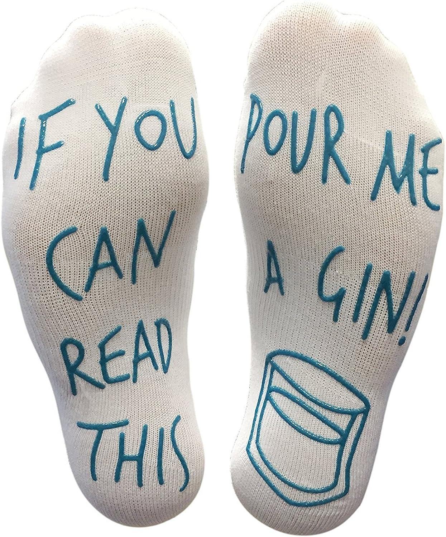 Gin is My Tonic printed Ladies Pink Socks
