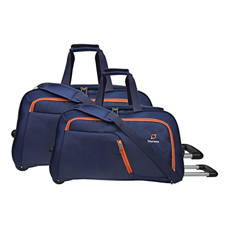 868d032f5 Murano Junio Set 60 cm Polyester 61 Ltr Duffel Bag/Travel Bag- Navy Blue:  Amazon.in: Bags, Wallets & Luggage