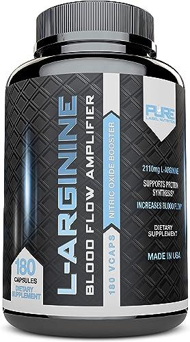 L-Arginine Pure-A 2110mg 180 Capsules L Arginine Nitric Oxide Booster
