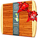 Greener Chef Bamboo Cutting Board - EXTRA LARGE KING SIZE & ORGANIC WOOD - LIFETIME REPLACEMENT WARRANTY - Best Christmas Gift & Holiday Wooden Carving Board