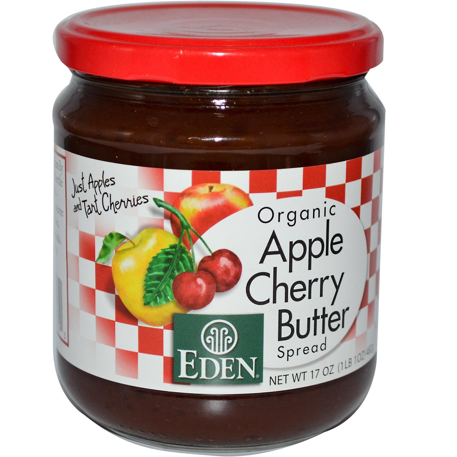 Eden Foods Organic Apple Cherry Butter Spread -- 17 oz by Eden (Image #1)