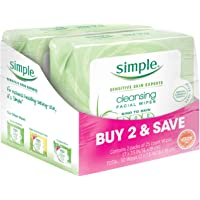 Simple Cleansing Facial Wipes, Kind to Skin 25 Ct.