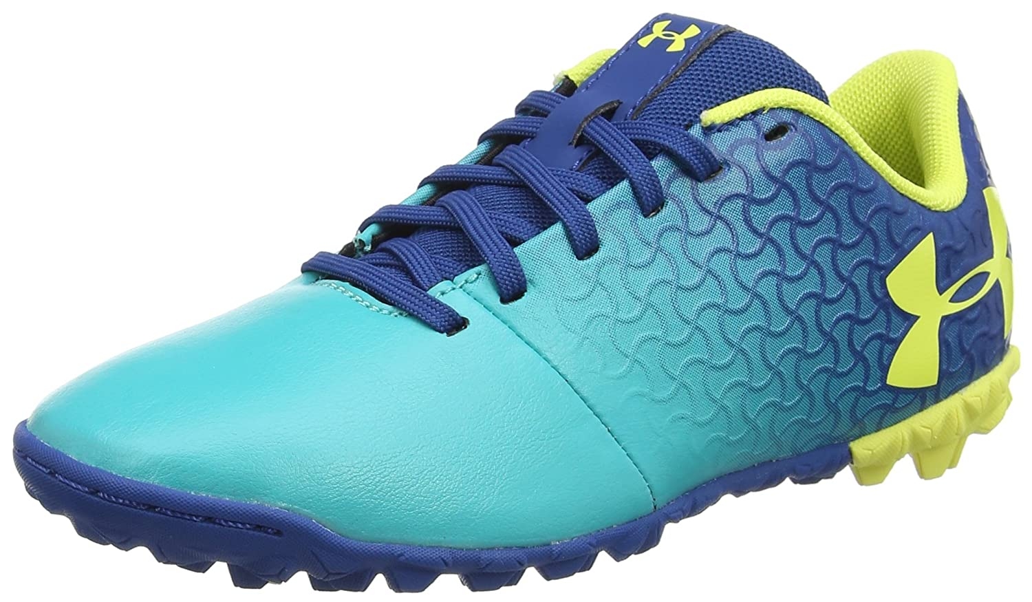 //Moroccan Blue Under Armour Magnetico Select JR Turf Soccer Shoe 300 5.5 Teal Punch