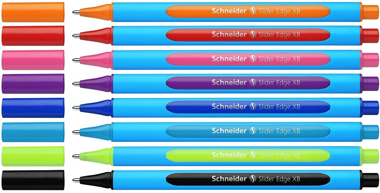 schneider slider edge xb  : Schneider Slider Edge XB Ballpoint Pen 8-Pack, Black/Red ...