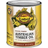 Cabot 140.0019460.005 Australian Timber Oil Water Reducible Stain, Quart, Low Voc Jarrah Brown, 32 Fl Oz