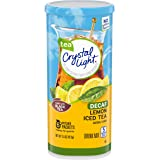 Crystal Light Decaffeinated Lemon Iced Tea Drink Mix (72 Pitcher Packets, 12 Packs of 6) (00043000030981)