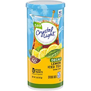 Crystal Light Decaffeinated Lemon Iced Tea Drink Mix (72 Pitcher Packets, 12 Packs of 6)