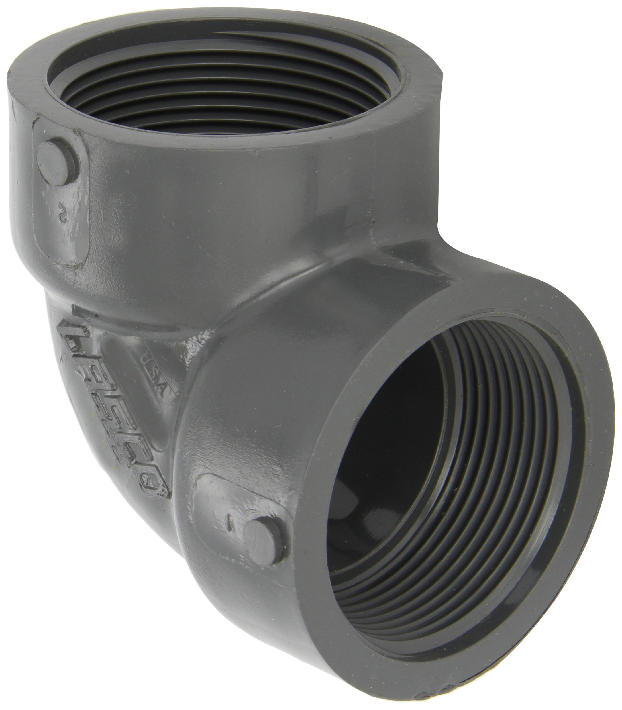 GF Piping Systems PVC Pipe Fitting 2 NPT Female Coupling Schedule 80 Gray