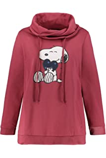 Ulla Popken Damen Snoopyprint Sweatshirt