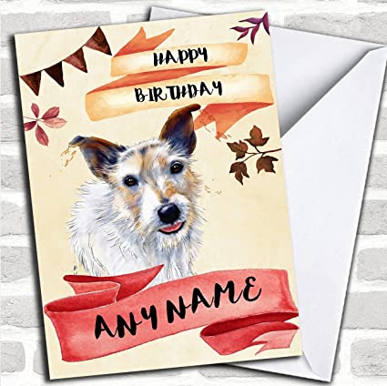 Amazon Watercolour Rustic Jack Russel Dog Personalized