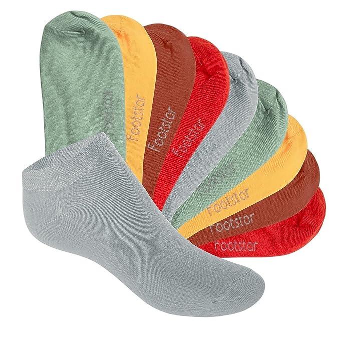 KIDS Calidad de celodoro Footstar SNEAK IT 10 pares de calcetines tobilleros para ni/ños Disponibles en varios colores y tallas de la 23 a la 34