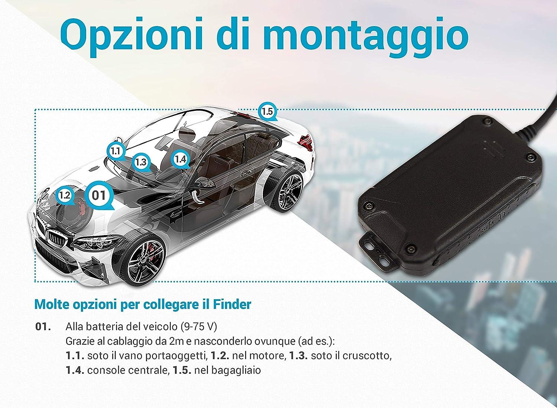 miniatura 5 - Salind GPS 01- Localizzatore GPS per auto, moto e veicoli con scheda SIM, app