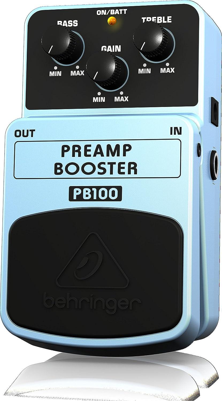 Behringer PB100 - Preamplificador (para guitarra, bajo y teclado, potenciador de volumen): Amazon.es: Instrumentos musicales