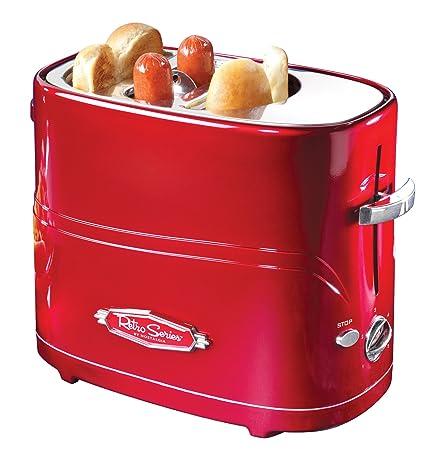 Nostalgia HDT600RETRORED Retro Series Pop Up Hot Dog Toaster