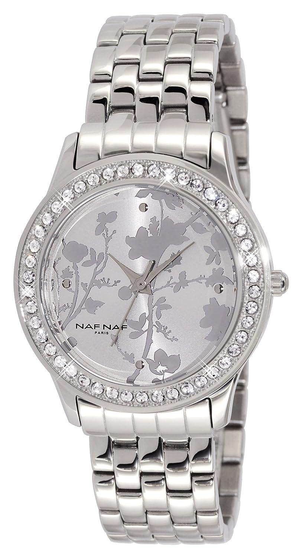 Naf Naf Damen-Armbanduhr SÉmiramis Analog Quarz Silber N10344-211