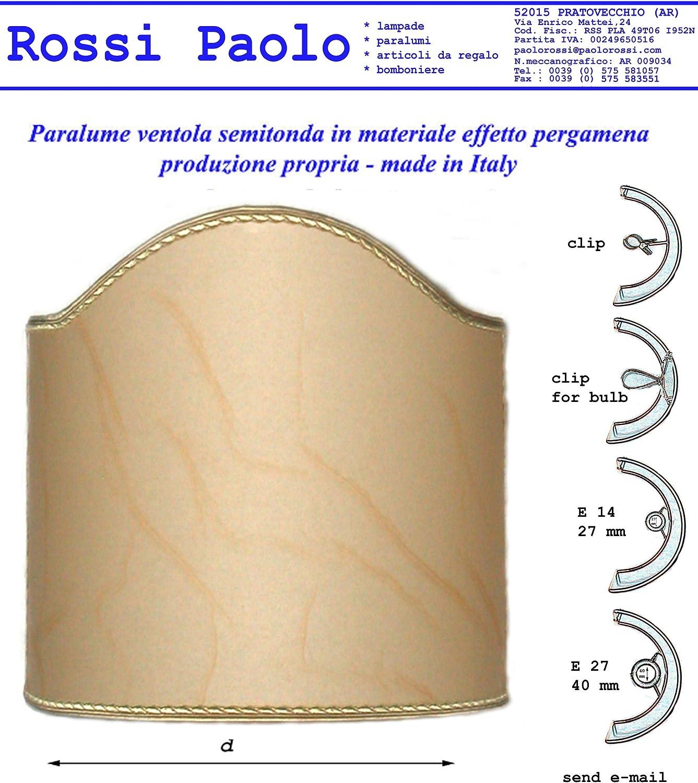 Paralume vela ventola in finta pergamena produzione propria made in Italy (cm 30)
