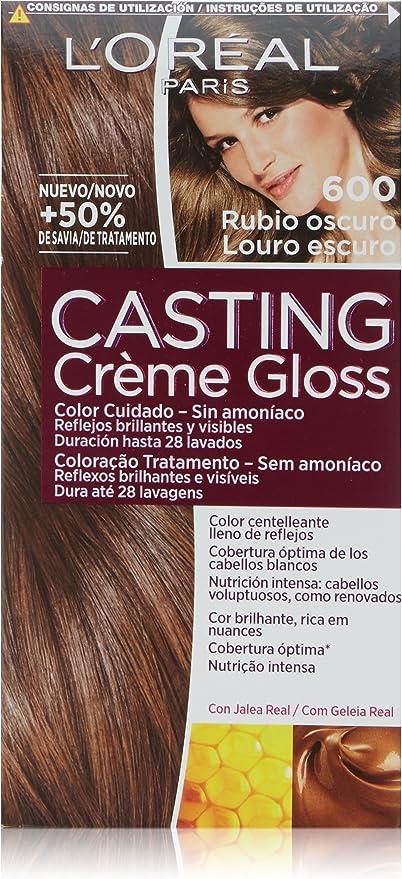 L Oréal Paris Casting Créme Gloss Coloración Sin Amoniaco Tono 600 Rubio Oscuro Amazon Es Belleza