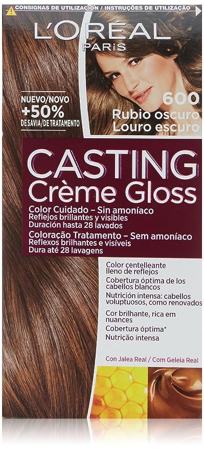 LOréal Paris Casting Créme Gloss Coloración Sin Amoniaco, Tono: 600 Rubio Oscuro