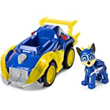Paw Patrol, Mighty Pups Super Paws Chase's Deluxe Vehicle with Lights & Sounds