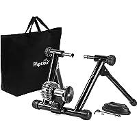 Alpcour Fluid Bike Trainer Stand - Entrenador portátil de acero inoxidable con volante fluido, reducción de ruido, resistencia progresiva, sistema de bloqueo dual - ejercicio estacionario para bicicletas de carretera y montaña