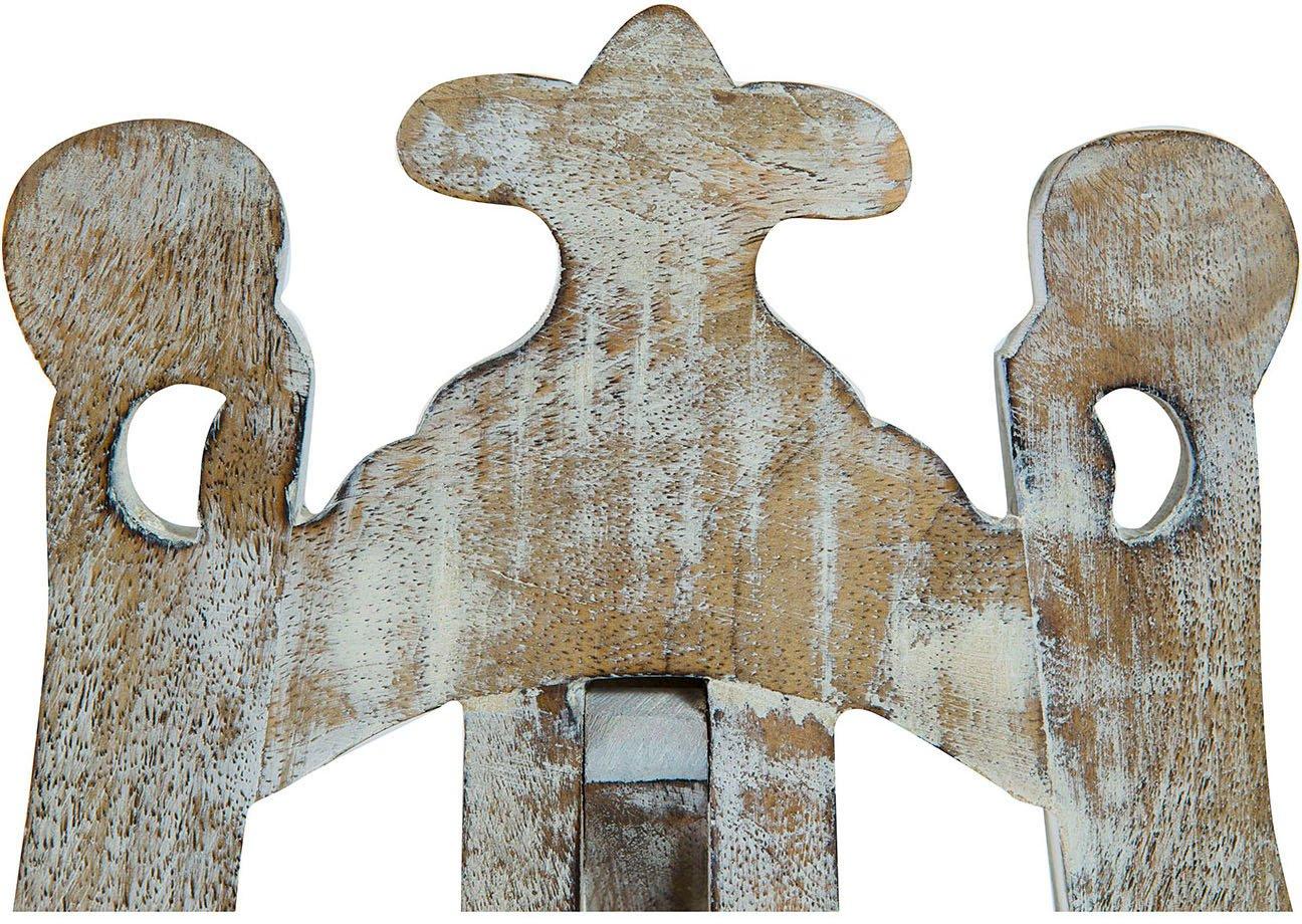 Leggio da appoggio in legno finitura bianca anticata L24xPR7xH36 cm