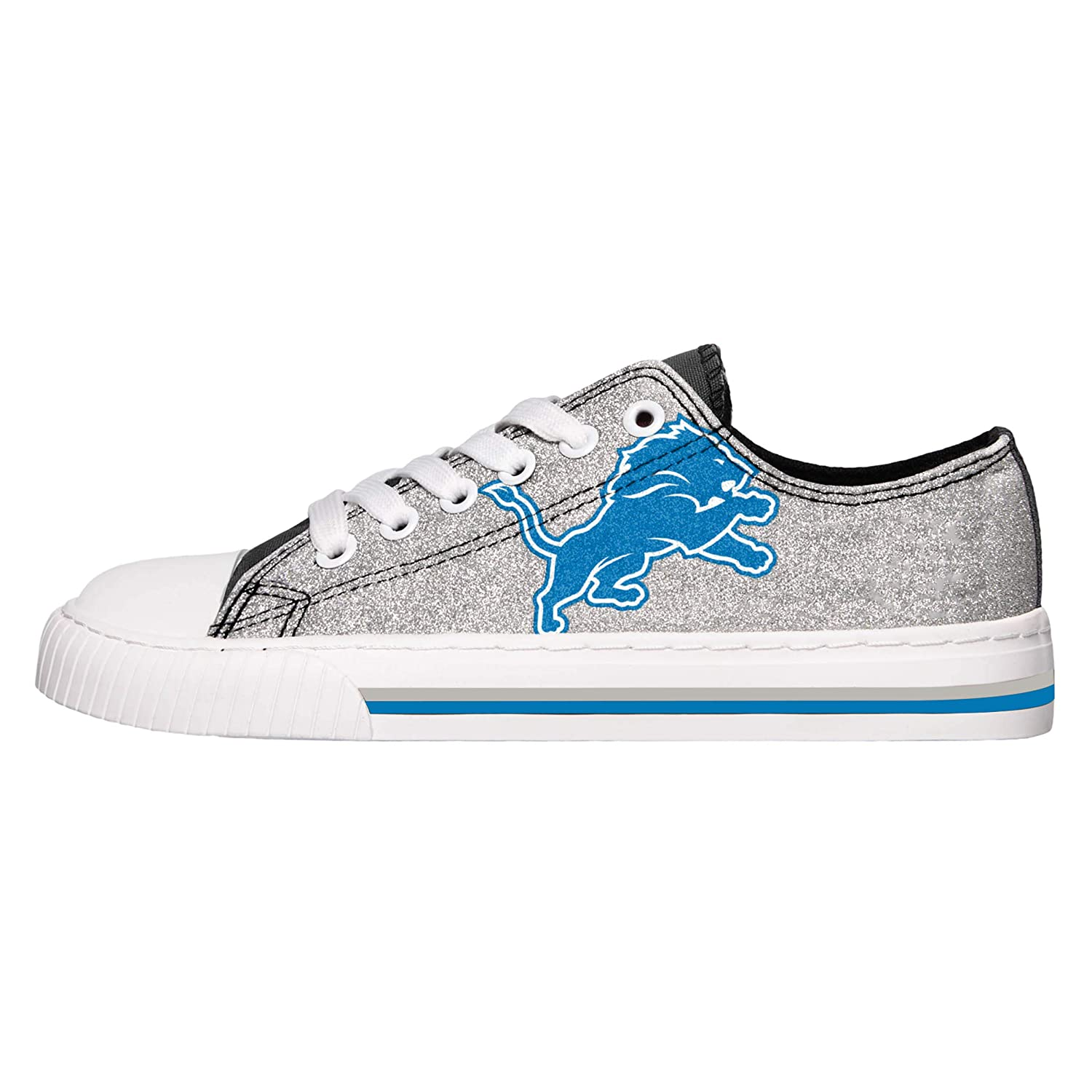 Amazon.com   FOCO NFL Womens Glitter Low Top Canvas Shoes   Sports    Outdoors 0f9deec62