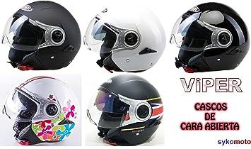 VIPER RS-V18 NUEVO MODELO MOTOCICLETA TOURING ABIERTO CASCO (S, REINO UNIDO)