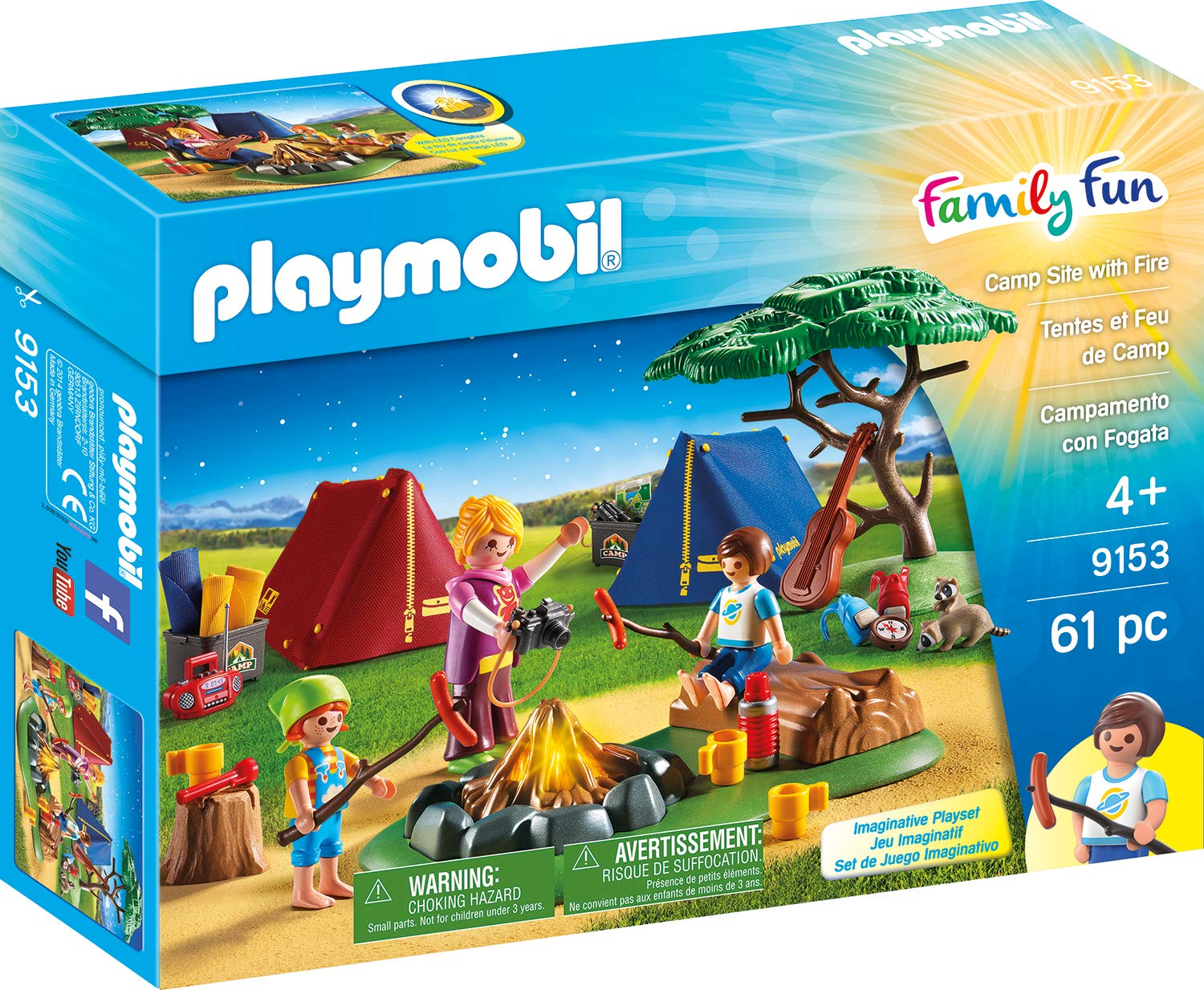 PLAYMOBIL® Camp Site with Fire Playmobil - Cranbury 9153