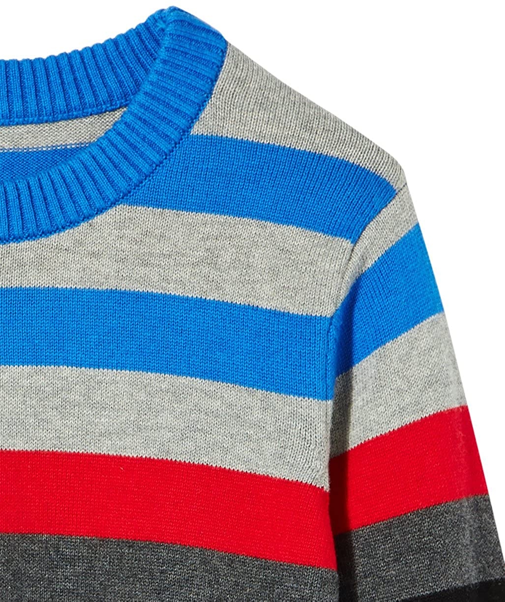 Kid Nation Kids Sweater Long Sleeve Crew Neck Pullover Stripe Cotton Knit Sweater for Boys or Girls 7KNB022