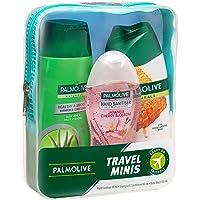 Palmolive Palmolive Travel Minis Hand Sanitiser 48mL, Shampoo & Conditioner 90mL, Body Wash 100mL, 1 count