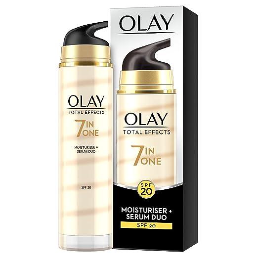 2 opinioni per Olay- Total Effects 7 in 1, Crema idratante + Siero anti-età multifunzione,