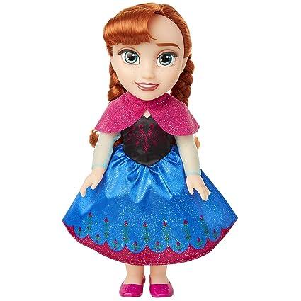 Amazon.com: Muñeca Frozen Disney Anna con traje azul y rosa ...