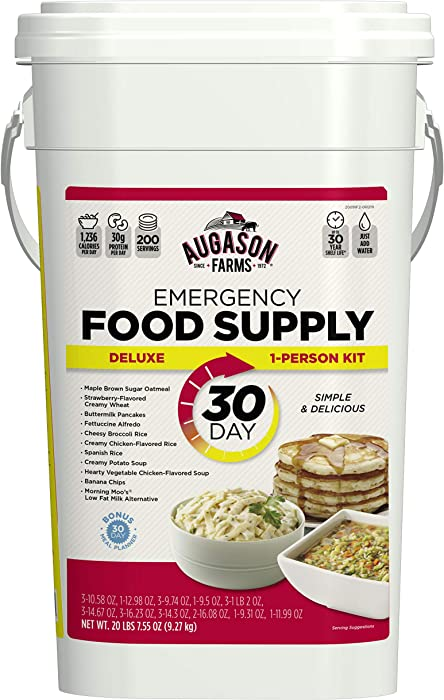 Top 9 Bucket Survival Food