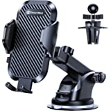 DesertWest Cell Phone Holder for Car Dashboard Car Mount [4.0 Version & Ultra Stable] Windshield Air Vent Universal Compatibl