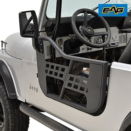 eag 81 96 jeep wrangler cj7 yj safari steel tubular doors with side view mirrors Jeep Wrangler Side View Blueprint